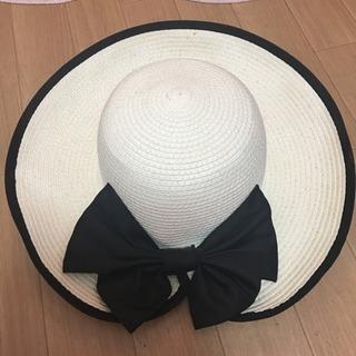 夏用 綺麗めリボン付ハット 麦わら帽子 売ります