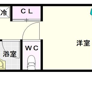 【ユーハイツ日本橋】1Kタイプ!インターネット使用料無料!全室角部...