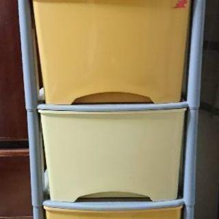 中古 // カラー収納ケース 5段  高さ 104 × 幅 33...