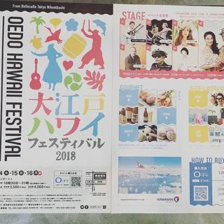 明日から3日間大江戸ハワイアンフェスティバルに出店しており…