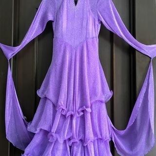 社交ダンス スタンダードドレス 紫色 M~Lサイズ モダン