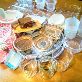 ガレージセール ケーキ屋閉店による 製菓梱包資材の在庫処分