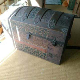 アンティーク トランク 宝箱 花柄 収納
