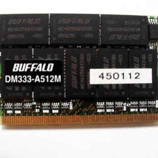 【超希少品】MicroDIMMメモリ 512MB BUFFALO...