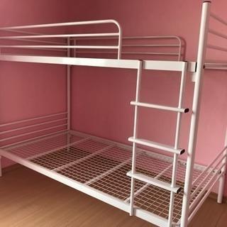 二段ベッド 中古 美品 パイプ 大人用 民泊にも