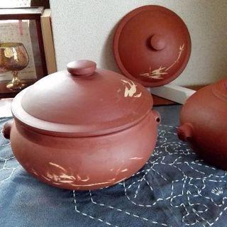 フタのみです。朱泥 中国富貴汽鍋 蒸し料理 直径10cm【ムベの...