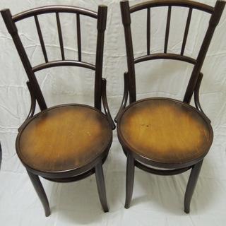 そろそろ受付終了します‥【さらに値下げしました】秋田木工 椅子 背...