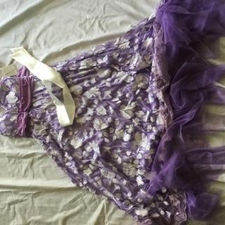ドレス 新品未使用  ムラサキ  フリーサイズ 試着していいよ。...