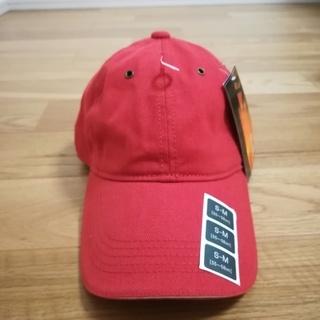 ツバ長 オレンジ キャップ 帽子 新品 未使用