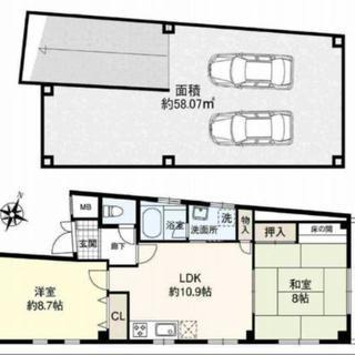 2台駐車♡2LDKフルリノベーション♡生野区
