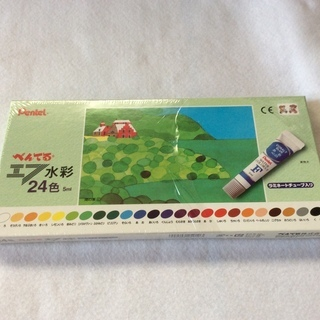 ぺんてる 水彩絵の具 24色(新品)