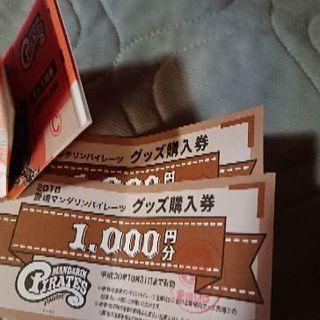 愛媛マンダリンパイレーツ入場券グッズ購入券