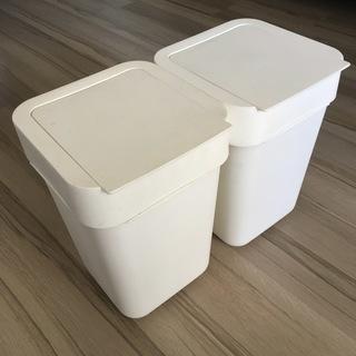IKEA イケア プラスチックふたつき収納ボックス 2個セットで