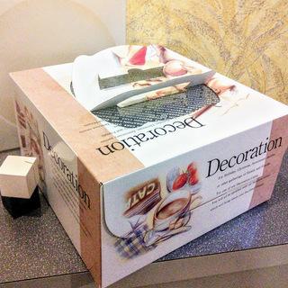 デコレーションケーキ箱 6号 2箱 トレー付き 現品処分