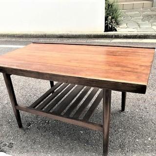 【送料無料】お洒落な英国購入の木材コーヒーテーブル センターテーブ...