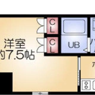 肥後橋駅 歩6分  家賃32000円 共益費5500円 26.20㎡