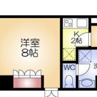 肥後橋駅 徒歩6分  家賃35000円 共益費5000円 32.27㎡
