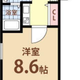 阿波座駅 歩2分 家賃40000円 共益費8000円 25.29㎡