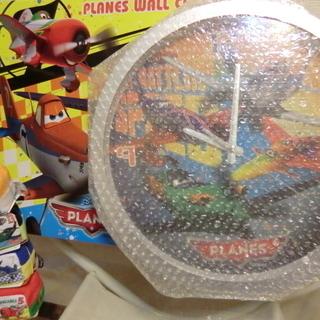 プレーンズ クロック 壁掛け時計+ころきゅーぶ4個 ディズニー