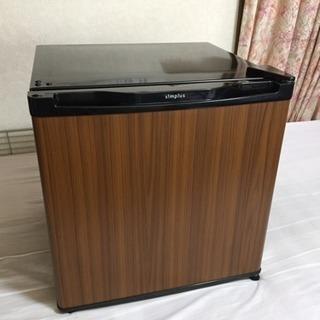 冷蔵庫 美品 2017年製 木目調 46L