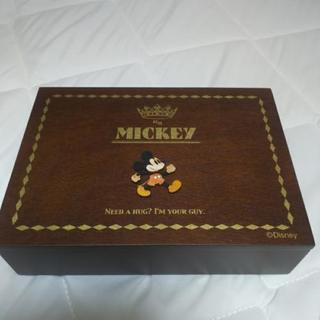 未使用ディズニー ウッドパーツジュエリーボックス ミッキー