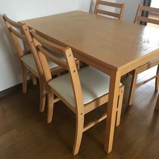 ダイニングデーブル&椅子4脚