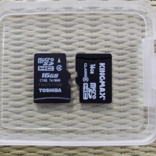 MicroSDカード 16GB2枚セット アダプタ付き 32GB