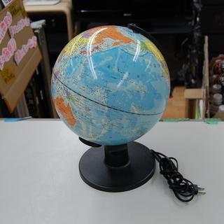 光る地球儀! 夜でも楽しく地図のお勉強! 幅28×高32 コンパ...