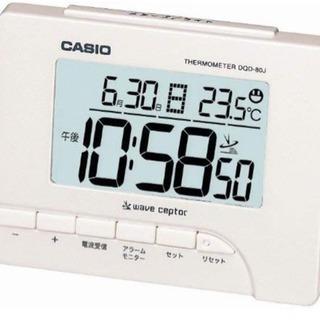 CASIO (カシオ) 目覚し時計 デジタル 電波時計 温度表示 ...