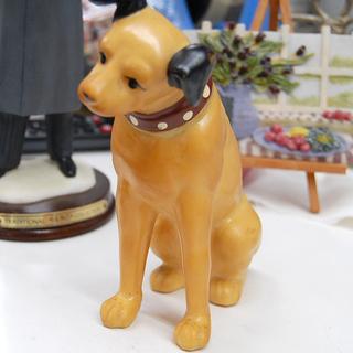 ニッパー犬 昭和レトロ 約16cm ソフビ 置物 インテリア ☆...