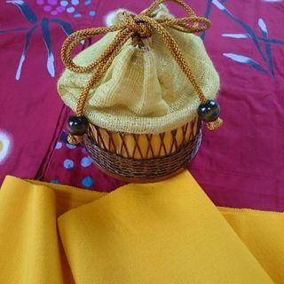 黄色い浴衣用バッグ