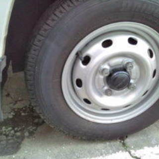 タイヤスチールホイールセット4本、平成20年式スバルサンバー純正...