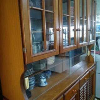食器棚(茶系・二段) 0円