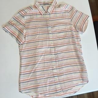 美品 綿100% シマシマシャツ 半袖