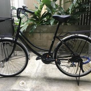 美品 24インチ 自転車 カゴ付き  黒色