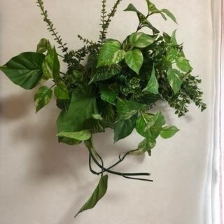 アートフラワー  ポトス等観葉植物  ブーケ