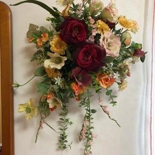アートフラワー  豪華なバラ等のブーケ