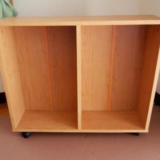スリムワゴン 木製 キャスター付 カラーボックス 本棚 収納