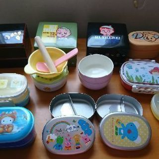 離乳食~幼稚園~低学年お弁当箱まとめて差し上げます