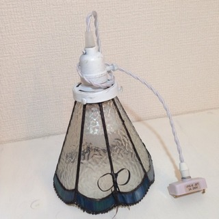 ステンドグラス ペンダント ライト 電球付き【美品】