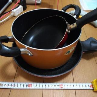 鍋、フライパン3点 (木曜日まで受付に変更)