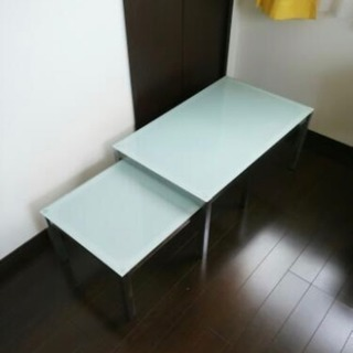 収納型ガラステーブルセット