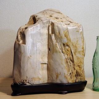 珪化木15㎏  アリゾナ産木化石 木台つき