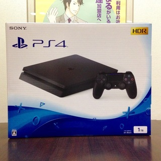【お値下げしました】 SONY PS4 1TB ジェット・ブラッ...