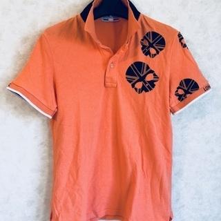 HYDROGEN オレンジポロシャツ スカル💀