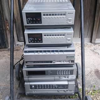 ナショナル、日立 ビデオカセットレコーダー、チューナー (ジャン...