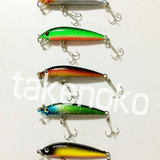 ■送料無料■小型ミノー 5.5cm 3.6g 5個セット 管釣り ...