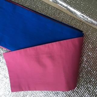 浴衣帯 リバーシブル 青とピンク 中古