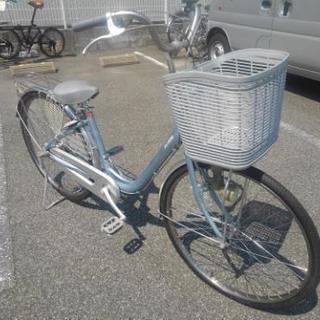 中古自転車186(防犯登録600円無料) 前後タイヤ交換 ブリヂス...