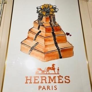HERMESアートポスター(フレーム付き)